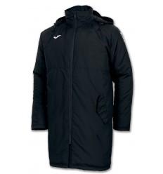 Abrigo 3/4 con capucha islandia negro