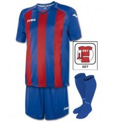 Set equipacion futbol pisa 12 azul royal-rojo